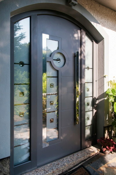 Modern Aluminum Front Entry Door - Contemporary - Front Doors - new york - by Ville Doors