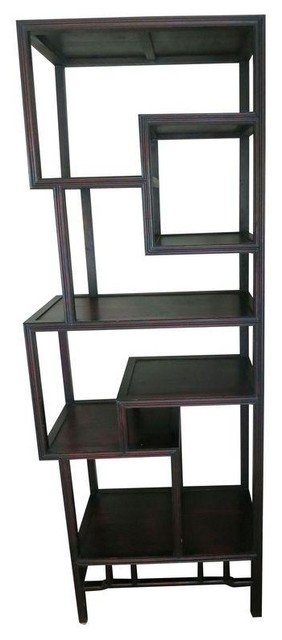 Pre-owned Antique Asian Curio Display Shelf - Display And Wall Shelves - by Chairish