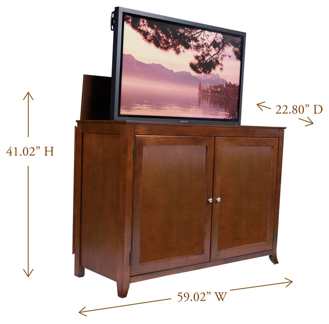 "Berkeley TV Lift Cabinet For Flat Screen TV's Up To 55"" - Traditional - Home Electronics ..."