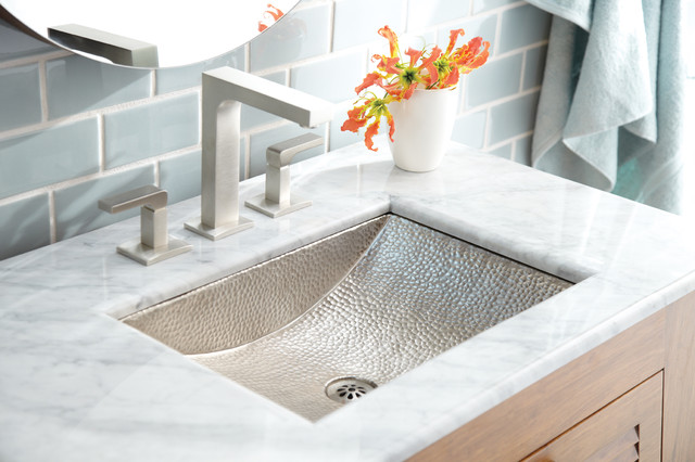Avila Copper Bath Sink In Brushed Nickel By Native Trails Contemporary Bathroom Sinks San