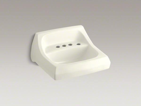 "KOHLER Kingston(TM) 21-1/4"" x 18-1/8"" wall-mount/concealed arm carrier bathroom contemporary-bathroom-sinks"