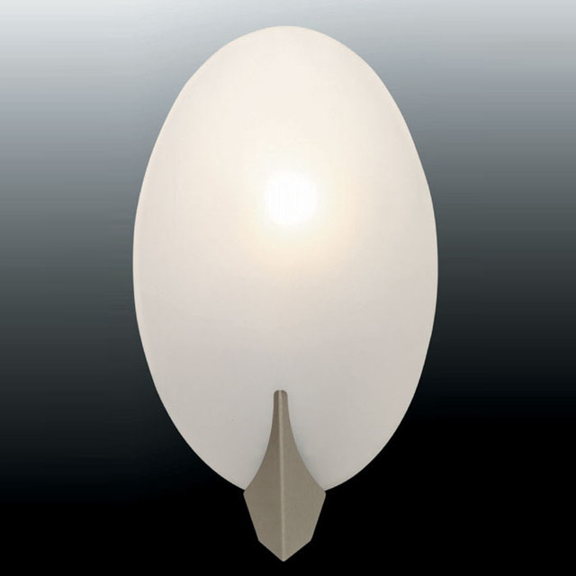 Wall Sconce - Frost Glass Shade - Traditional - Wall Lighting - by Modern Furniture Warehouse