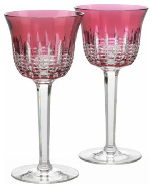 Waterford Simply Pink Wine Goblet, Pair traditional-everyday-glassware