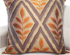 Paprika Ikat Pillow mediterranean pillows