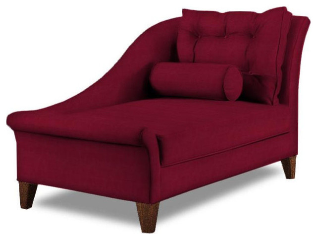 Casual chaise lounge contemporary indoor chaise lounge for Burgundy chaise lounge