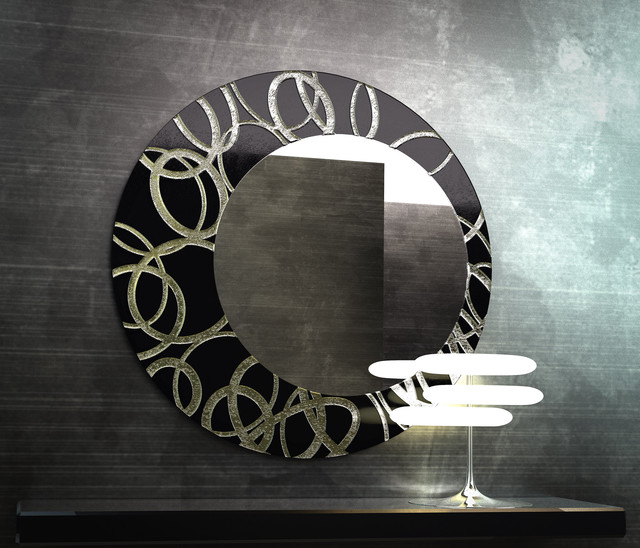 Circle Contemporary Wall Mirror modern-mirrors