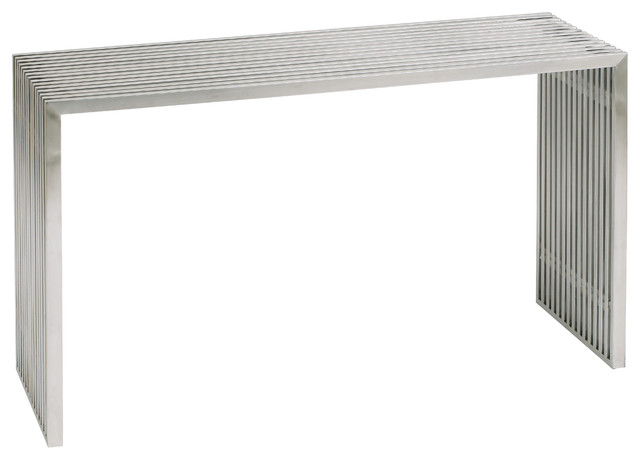 Amici Console Sofa Table Stainless Steel by Nuevo - HGDJ189 modern-console-tables