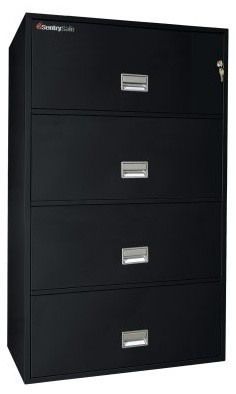 SentrySafe L3610 Insulated 4 Drawer Lateral Filing Cabinet - 36 Inch modern-home-office-accessories