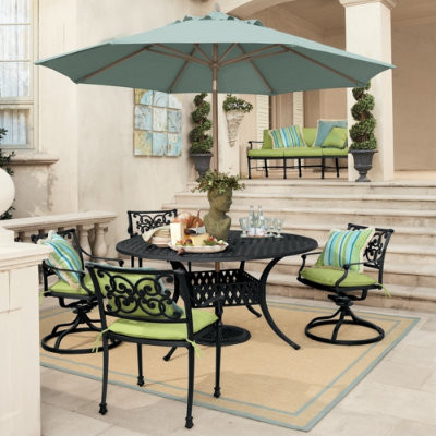 5-Piece Amalfi Dining Set traditional patio furniture and outdoor furniture