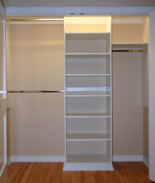 Basic Reach In Closet Modern Closet Organizers