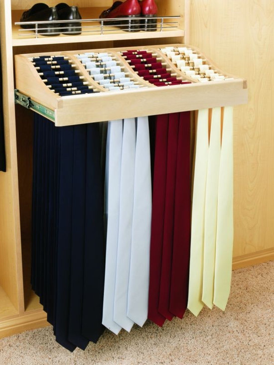 Product & Accessory Ideas - Sliding hanging tie rack