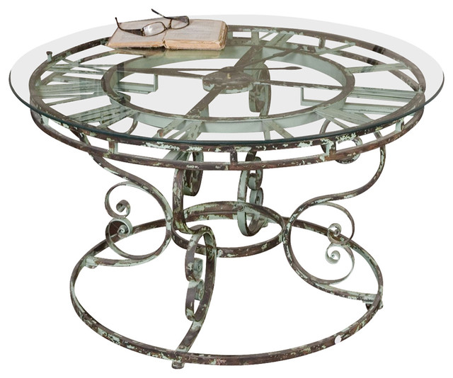 36 Inch Round Glass Coffee Table