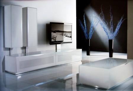 Modern Flat TV Composition 7D - Modern - Entertainment Centers And Tv ...