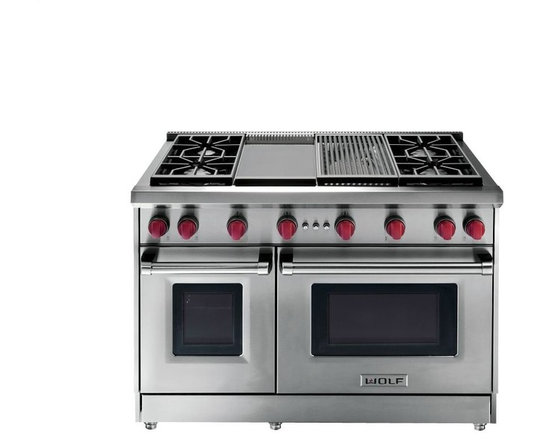 "Wolf 48"" Pro-Style Gas Range, Stainless Steel 