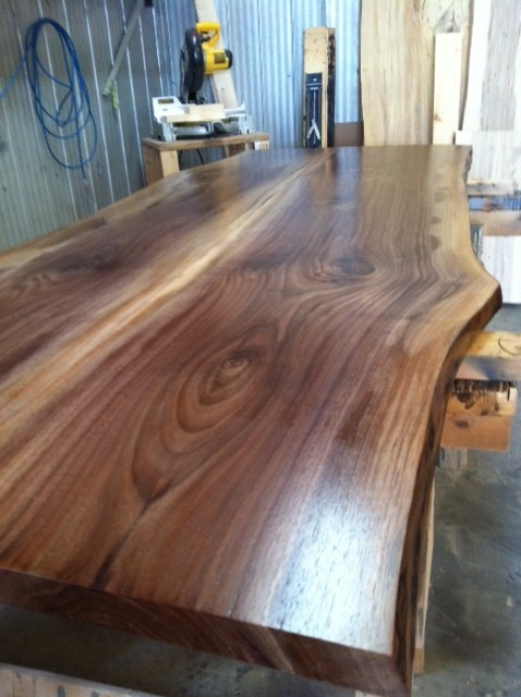 Live Edge Walnut Countertop Modern Kitchen Toronto