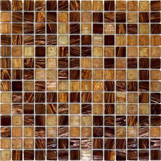 Brown Blend Iridescent Glass Mosaic Tile mosaic-tile