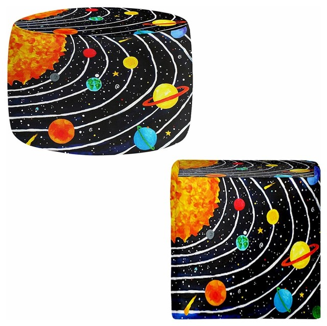 Ottoman Foot Stool - Solar System contemporary-footstools-and-ottomans
