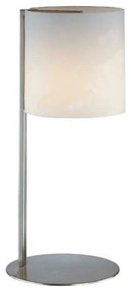 Velia Table Lamp in Polished Steel modern-table-lamps
