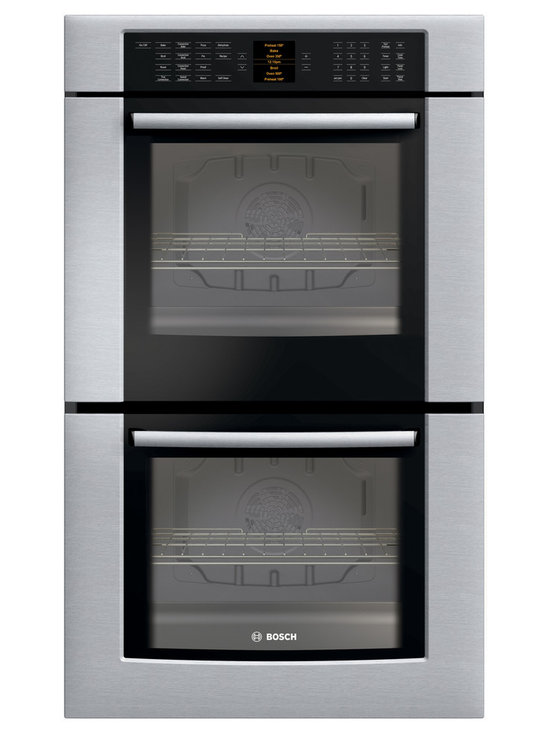 """Bosch 30"""" 800 Series Double Wall Oven With Convection, Stainless 