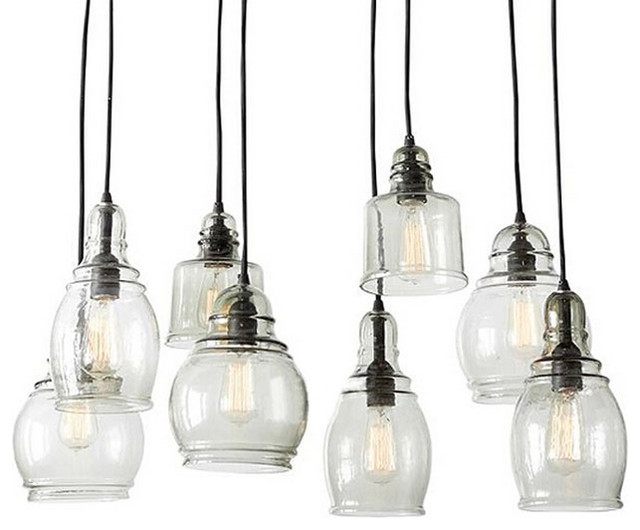 North Blown Glass Shade Pendant Lighting Farmhouse Pendant Lighting new
