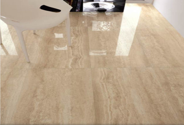 Travertino romano porcelain tile modern wall and floor for Travertino romano