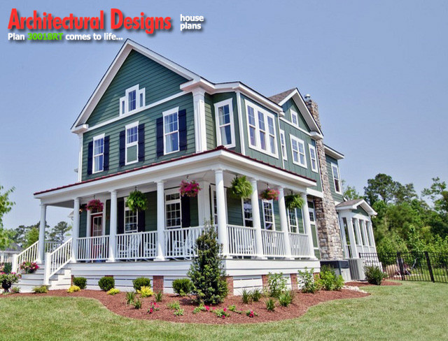 Award winning farmhouse plan 30018rt for Award winning architectural home designs