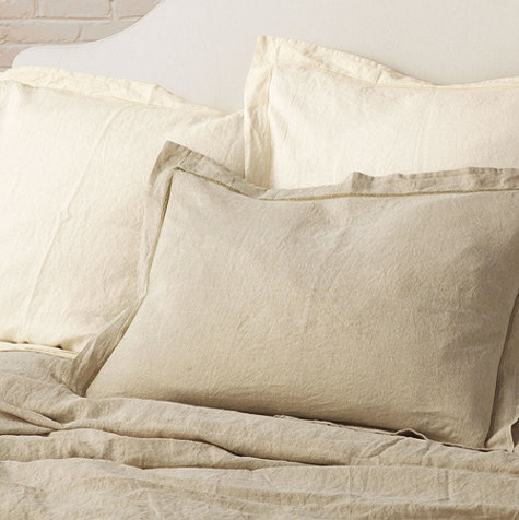 Washed Linen Sham traditional-pillowcases-and-shams