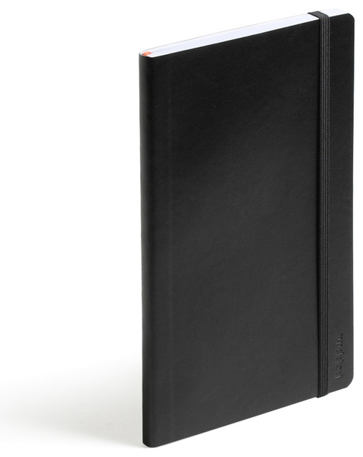 Soft Cover Notebook, Black, Medium modern-desk-accessories