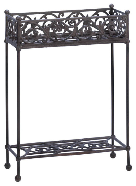 Cast iron two tier plant stand traditional outdoor - Tier plant stand outdoor ...