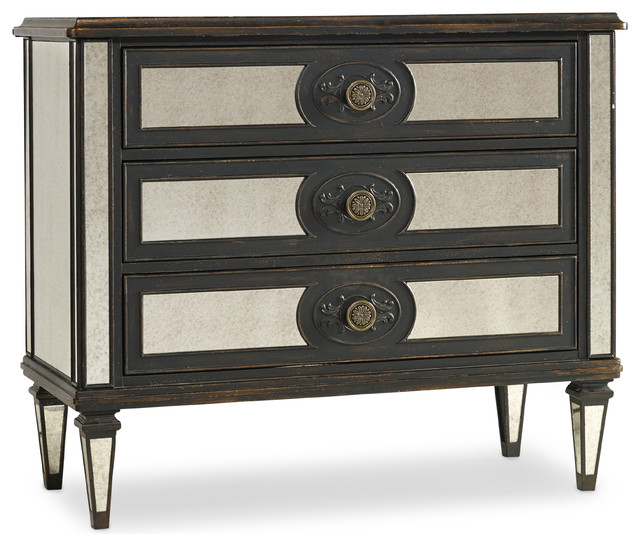 Hooker Furniture Three-Drawer Mirror Accented Chest 5218-85001 traditional-dressers-chests-and-bedroom-armoires