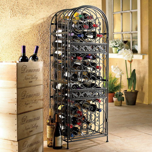 Renaissance 50 Bottle Wine Rack modern-wine-and-bar-tools