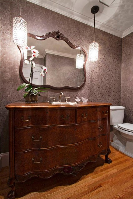 chest of drawers and mirror repurposing