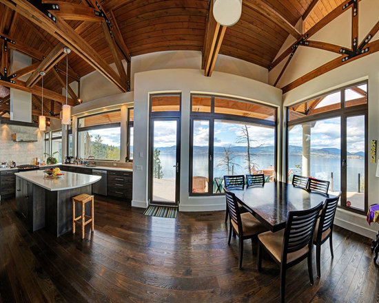 Dining Rooms | Brighten Your Meal - Private Residence in Kelowna, BC | Home by Serani Bros. Contractors | Innotech Windows Canada, Inc.
