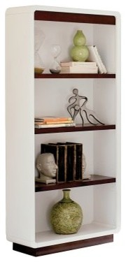 kathy ireland Home by Martin iNfinity Open Bookcase - Bright White modern-bookcases