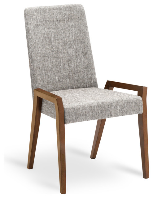 Melvie coral cocoa dining chair modern dining chairs for Contemporary fabric dining chairs