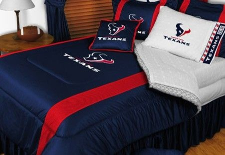 Houston Texans Nfl Bedding Sidelines Comforter And Sheet