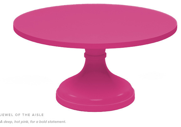 12 Quot Cake Stand Hot Pink Contemporary Dessert And Cake