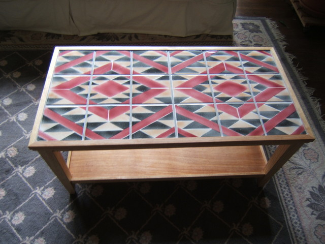 Navajo Rug Design Tile Coffee Table Traditional Coffee