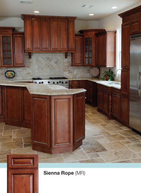 Brown Kitchen Cabinets Sienna Rope Door Style Kitchen