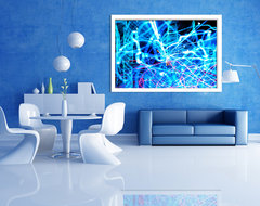 Abstract Prints on Aluminum modern-artwork