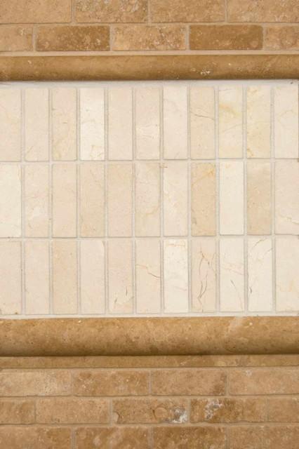 Tuscany Walnut Travertine & Crema Marfil Marble tile