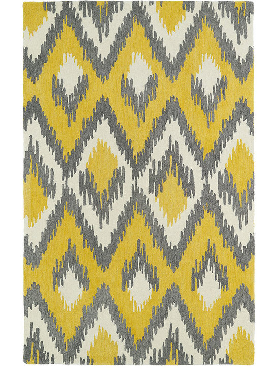 Kaleen - Global Inspirations GLB10-28 Yellow Rug - The Global Inspirations collection brings you beautiful motifs influenced by decor from all over the world. You no longer need to wander the streets of Europe or Asia looking for that hidden gem, our Global Inspirations collection found it for you! Each rug is hand-tufted in India from 100% of the very finest wool, to achieve today's hottest worldly designs and patterns.