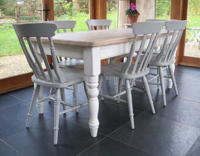 Hand Painted Farmhouse Table country dining tables