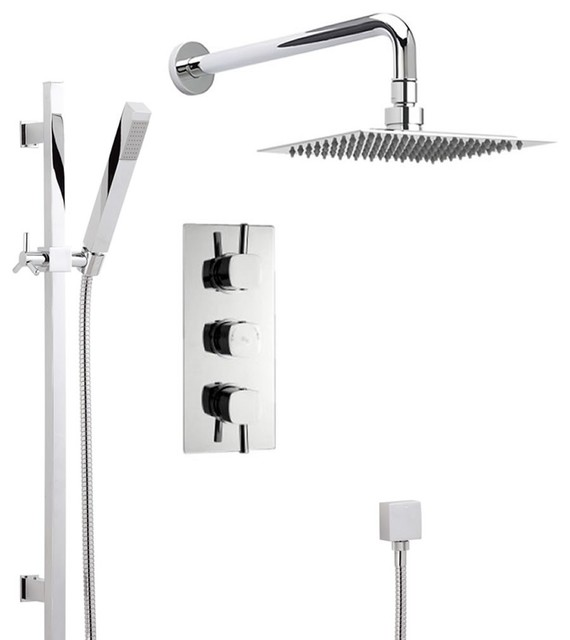 New Thermostatic Shower System With Triple Valve Rain