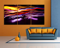 Abstract Prints on Aluminum contemporary