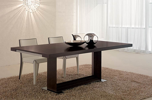 Modern dining table native home garden design for Contemporary dining table designs