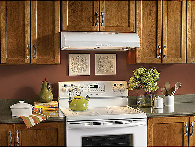 Broan Evolution 1 Series White Under-cabinet Range Hood - Contemporary - Range Hoods And Vents ...
