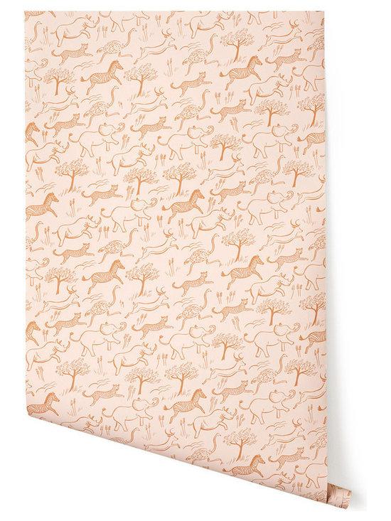 Safari Wallpaper, Blush -