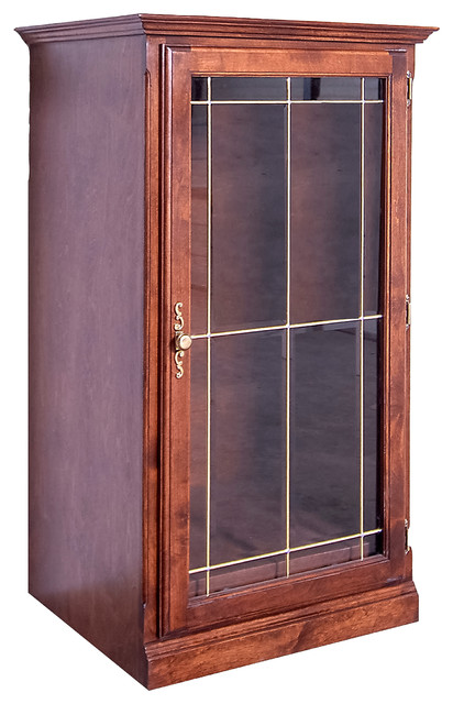 Traditional Audio Tower With Glass Door - Home Electronics - by Oak Arizona