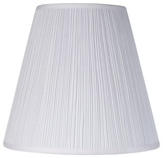 Traditional Springcrest Mushroom Pleated Shade 9x16x14.25 (Spider) - Traditional - Lamp Shades ...